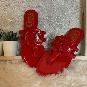 Circus By Sam Edelman Red Patent Thing Slide